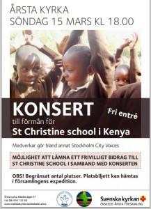 Affisch konsert 15 mars